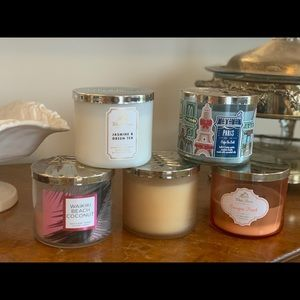 Set of 5 Bath and Body Works Candles